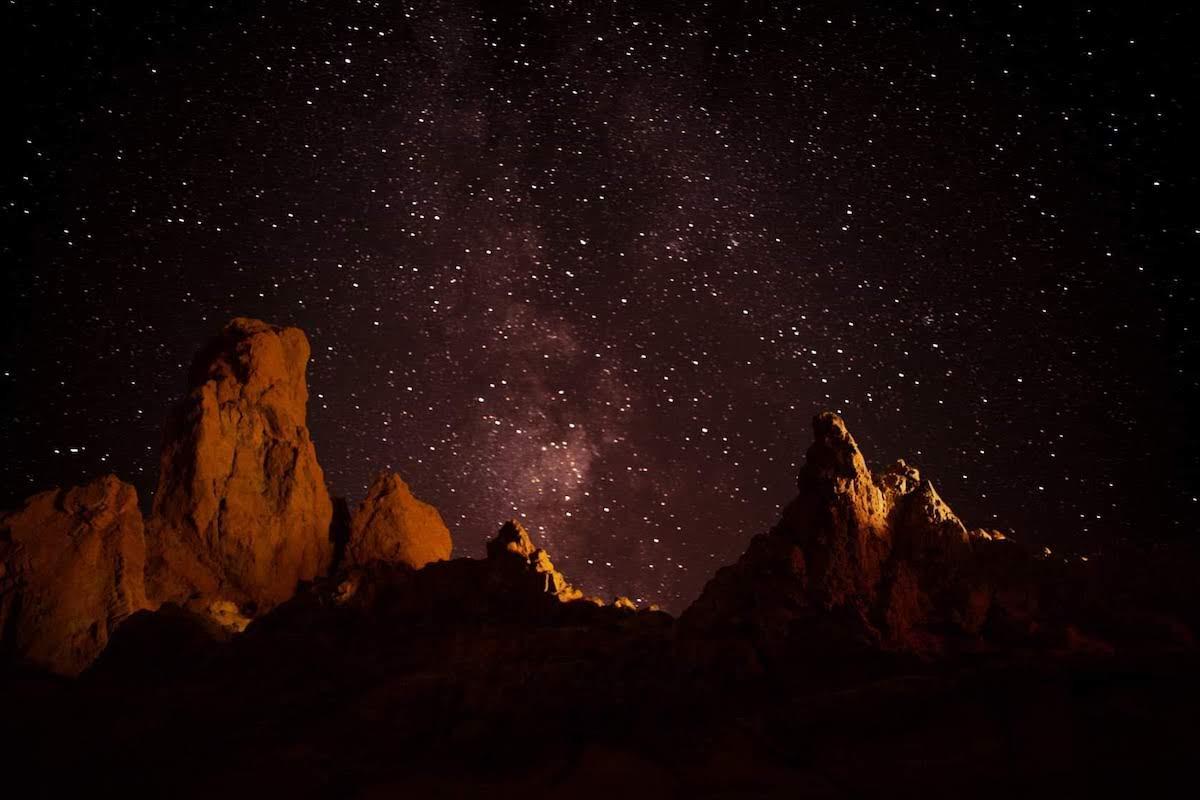 Estrellas desde el Teide